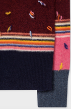 Load image into Gallery viewer, Paul Smith Striped Lambswool Roll Neck Sweater