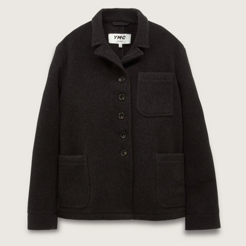 YMC City Heavy Wool Jacket Charcoal-bowns