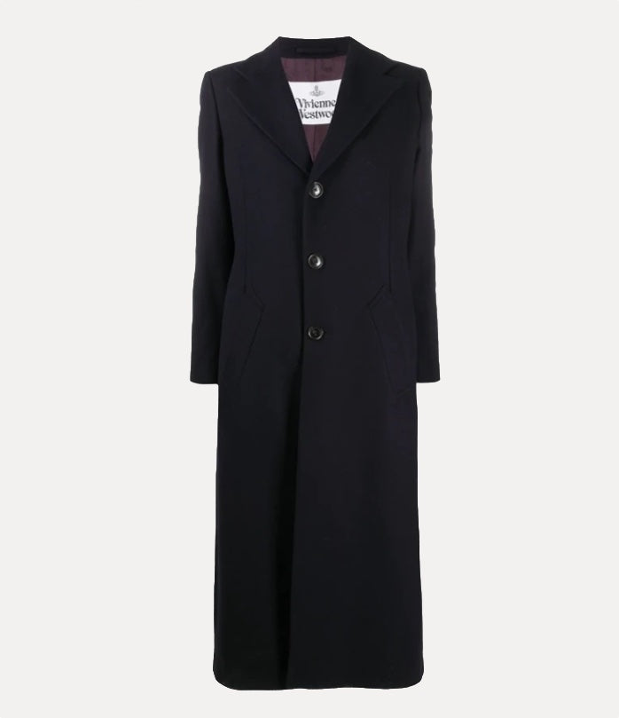 Vivienne Westwood Single Breasted Navy Wool Coat-bowns-cambridge.jpg