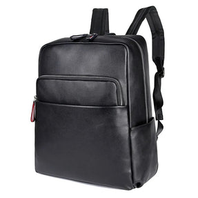 TuccisLeather 2753A Cow Leather Backpack School Knapsack for Men