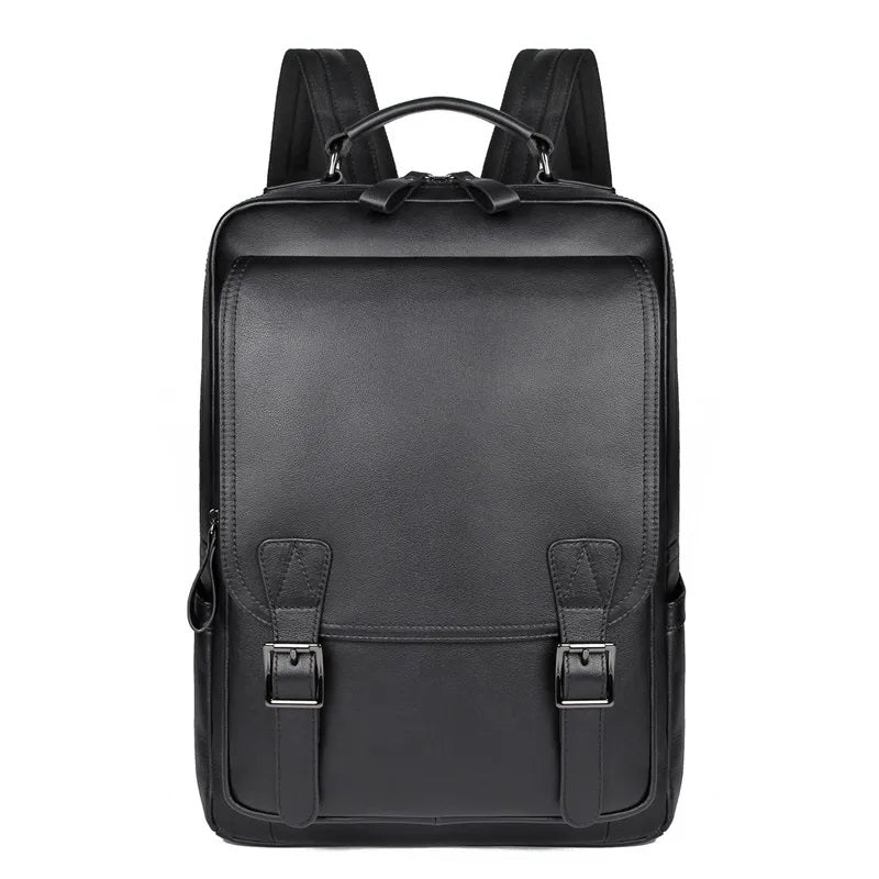 TuccisLeather 2755A Top Grain Leather Backpack School Bag for Men