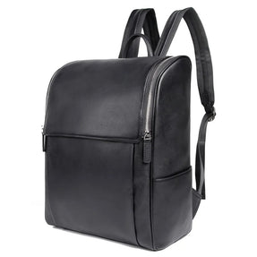 TuccisLeather 7344A-1 New Style Cow Leather Black Mens Backpack