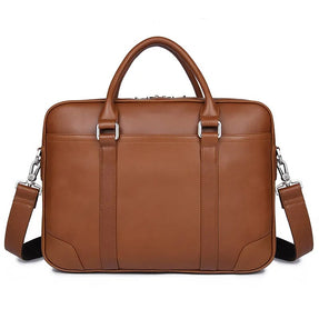TuccisLeather 7349B-2 Vintage Leather Men's Laptop Briefcase Messenger handbag