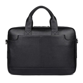 TuccisLeather 7382A-Y Hot Selling Top Grain Leather Handbag Men's Laptop Bag