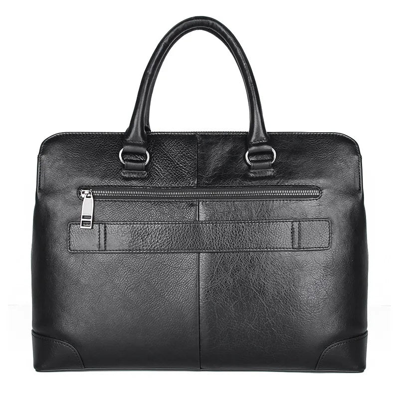 TuccisLeather 7406A Men's Top Grain Vintage Leather Briefcase & Messenger Bag