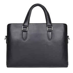 TuccisLeather 7410A Simple Design Leather Laptop Real Cow Leather Briefcase for Men