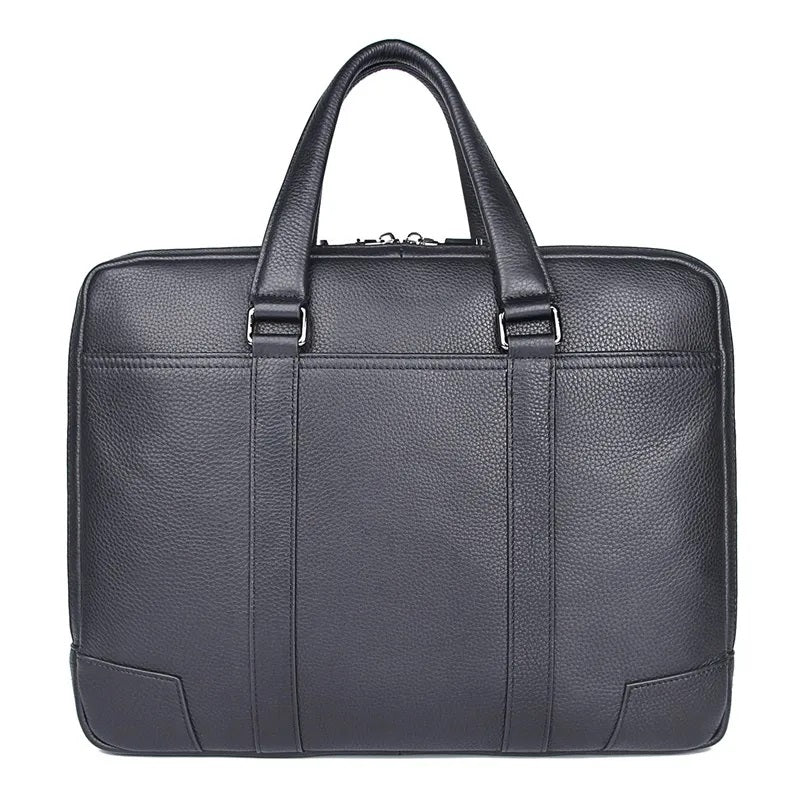 TuccisLeather 7418A Full Grain Leather Laptop Bag Men's Handbag Lawyer Bag