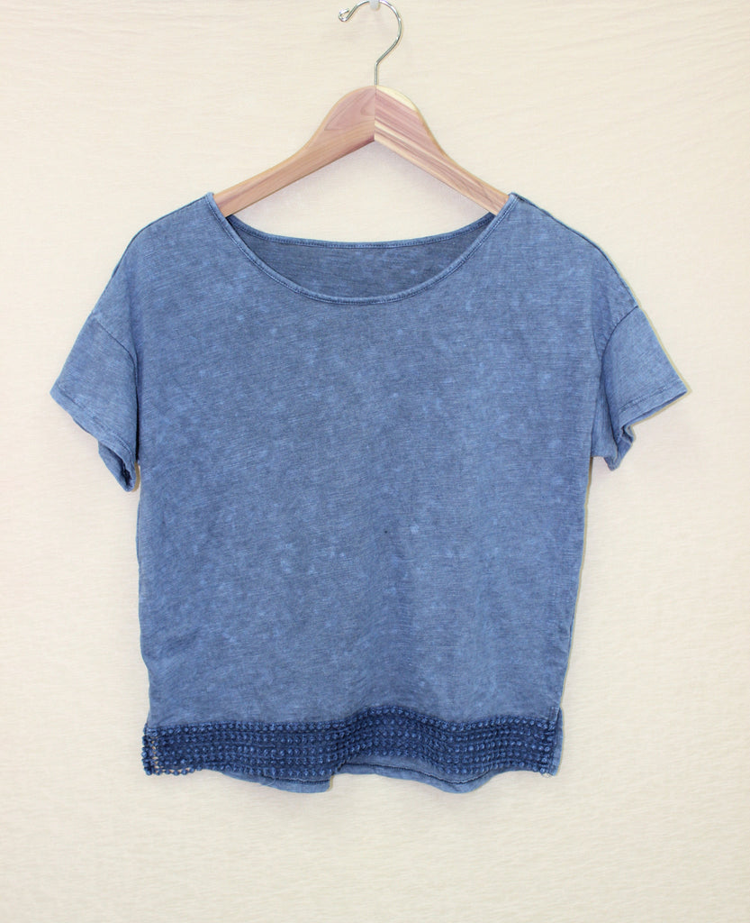 Mineral Wash Tee with Embroidery