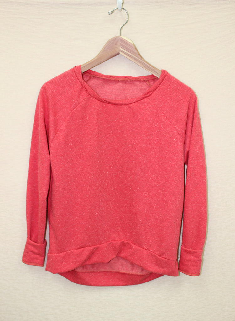 Twist Neck Sweatshirt