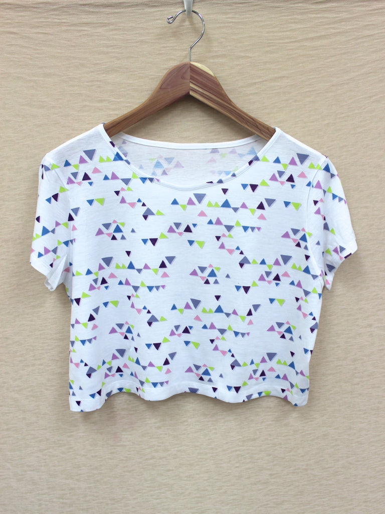 Triangle Print Crop Top