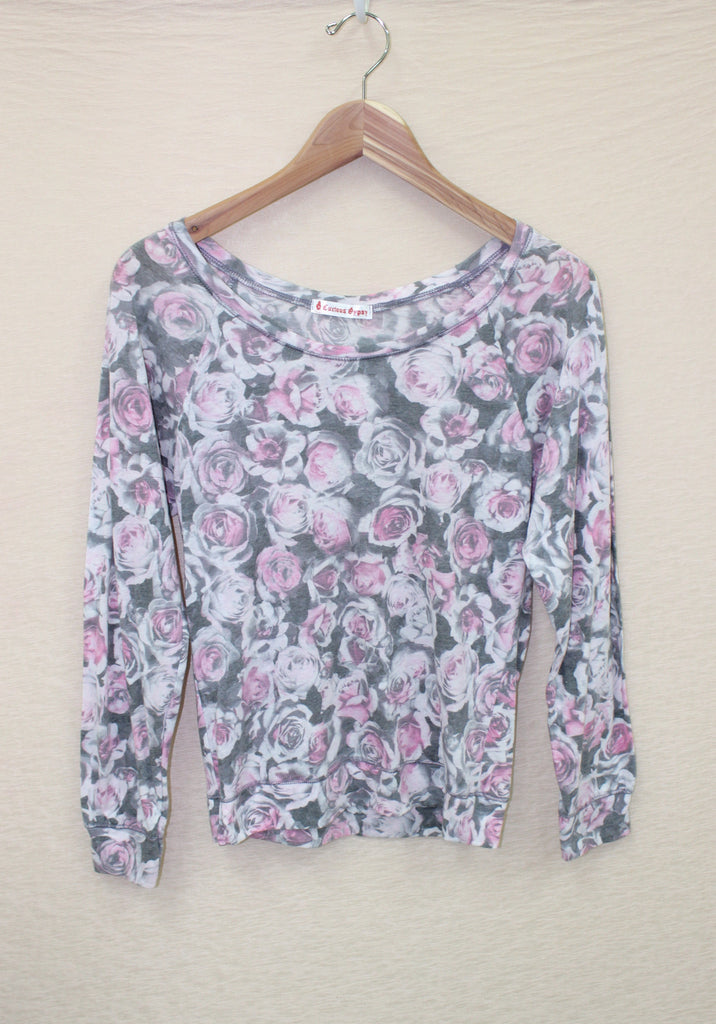 Rose Print Long Sleeve