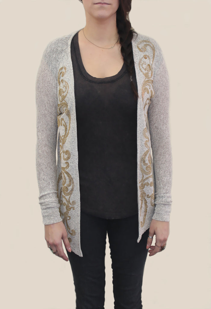 Gold Flourish Cardigan