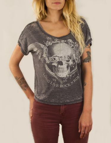 Burnout Skull Top