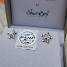 Load image into Gallery viewer, Swarovski Turtle Studs