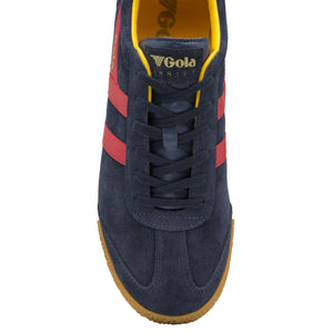 MEN'S HARRIER SUEDE TRAINERS, navy/sun/red