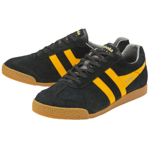 MEN'S HARRIER SUEDE TRAINERS, black/sun/grey