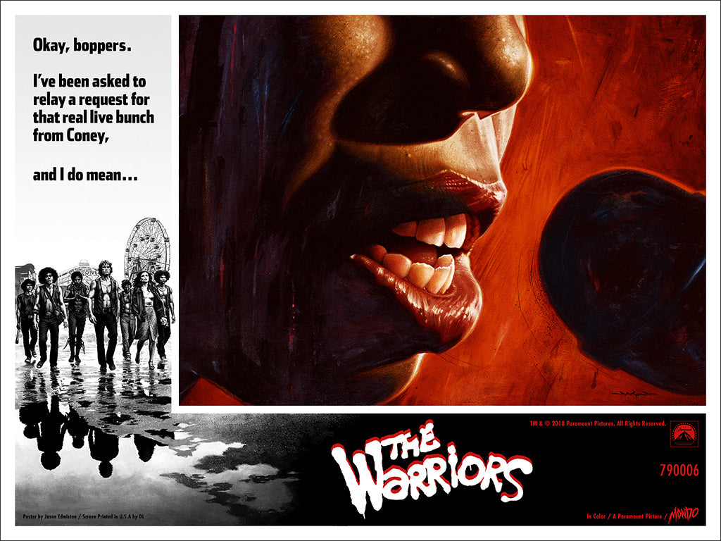 new poster the warriors by jason edmiston mondo