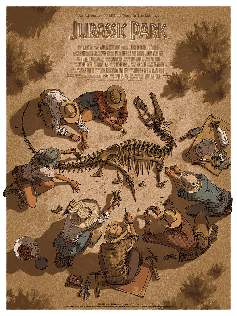 New Poster Release Jurassic Park By Claire Hummel Mondo