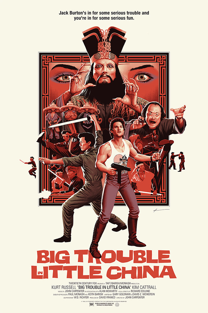 big trouble in little china poster soundtrack amp enamel