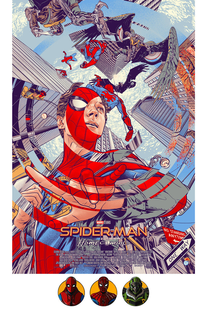 29e87fe0146 Spider-Man  Homecoming Bundle Includes Timed Edition Poster by Martin Ansin    3 Enamel Pins by DKNG