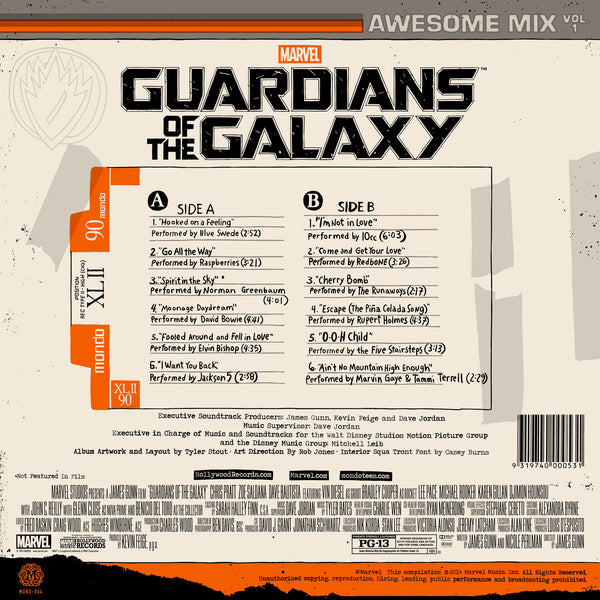 Guardians Of The Galaxy Awesome Mix Vol 1 Deluxe Vinyl