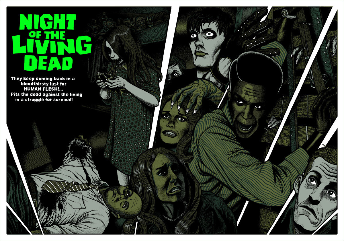 Night Of The Living Dead Poster Available Now! – Mondo