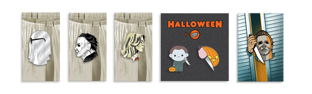 Bob The Ghost Boogeyman Laurie Michael Pumpkin Enamel Pin Set Myers 10 Each 16