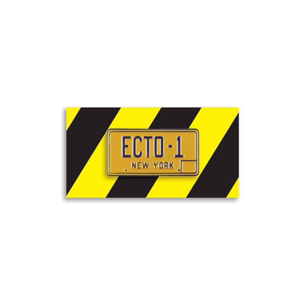Ecto-1 License Plate Enamel Pin