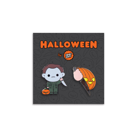 Michael + The Pumpkin - Halloween Enamel Pin Set