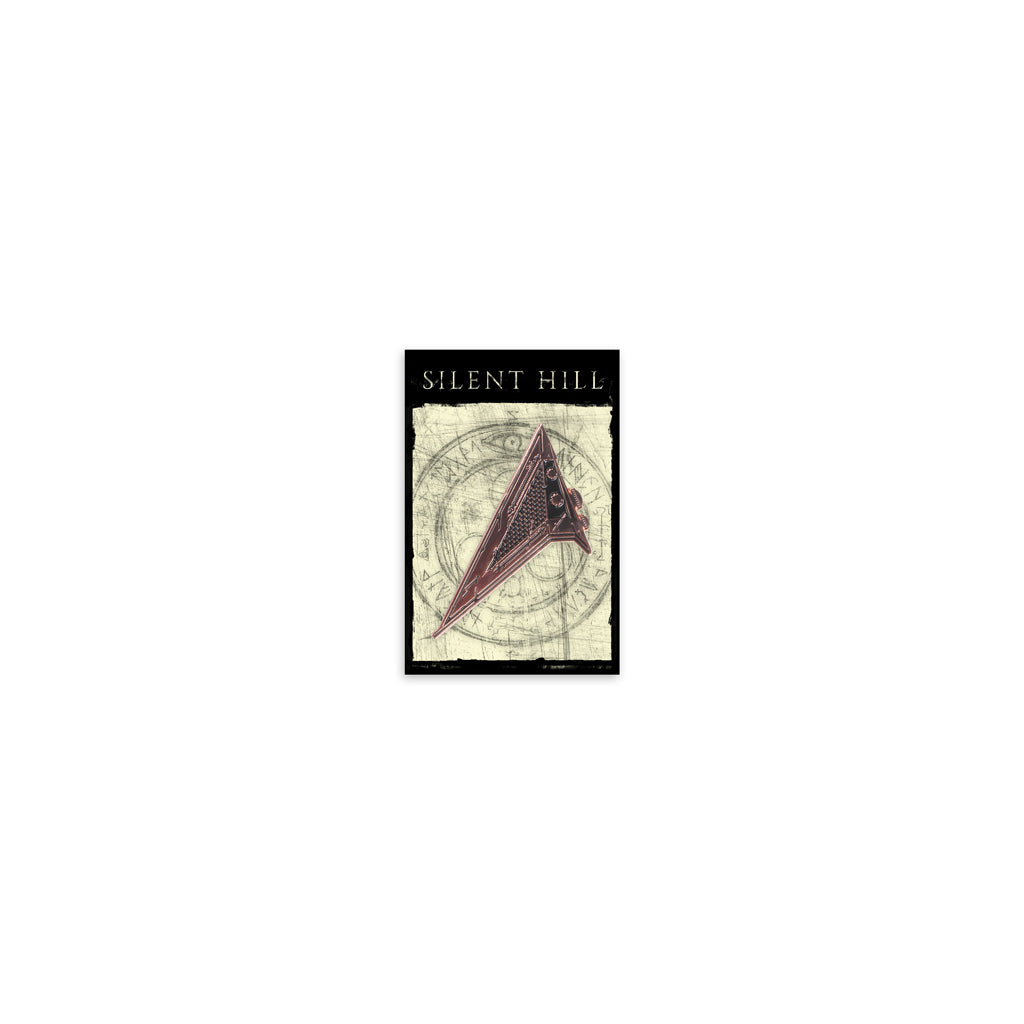 Red Pyramid Thing Enamel Pin