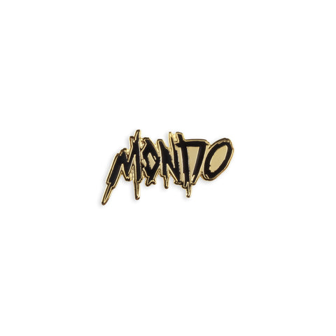 Mondo Thrasher Gold Enamel Pin