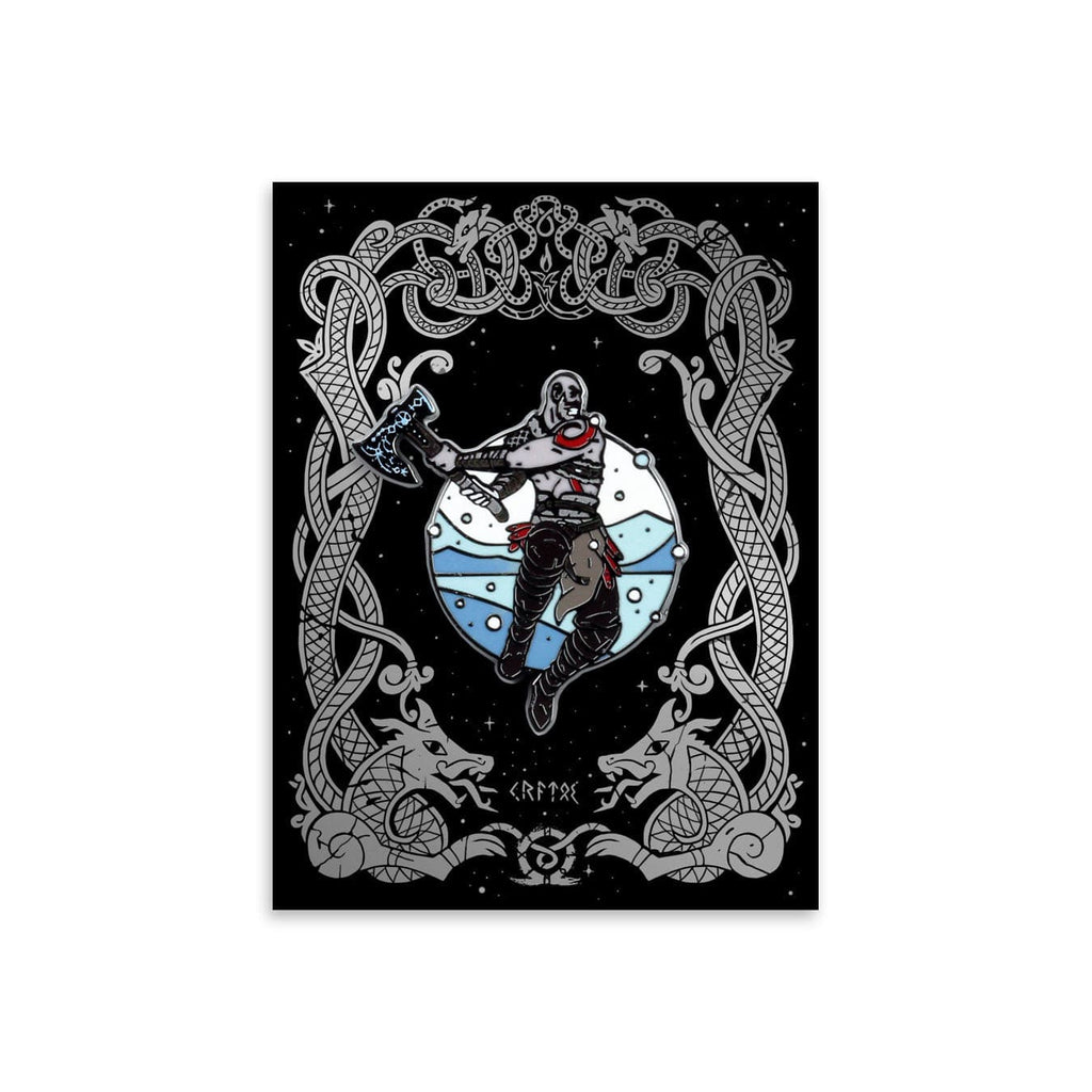 Kratos Enamel Pin
