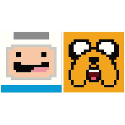 Adventure Time 8 Bit Finn and Jake Set Delicious Design League poster