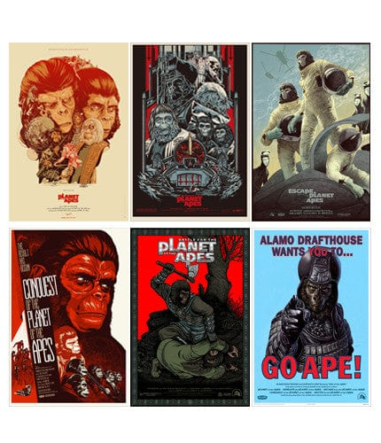 Planet of the Apes Set Martin Ansin poster