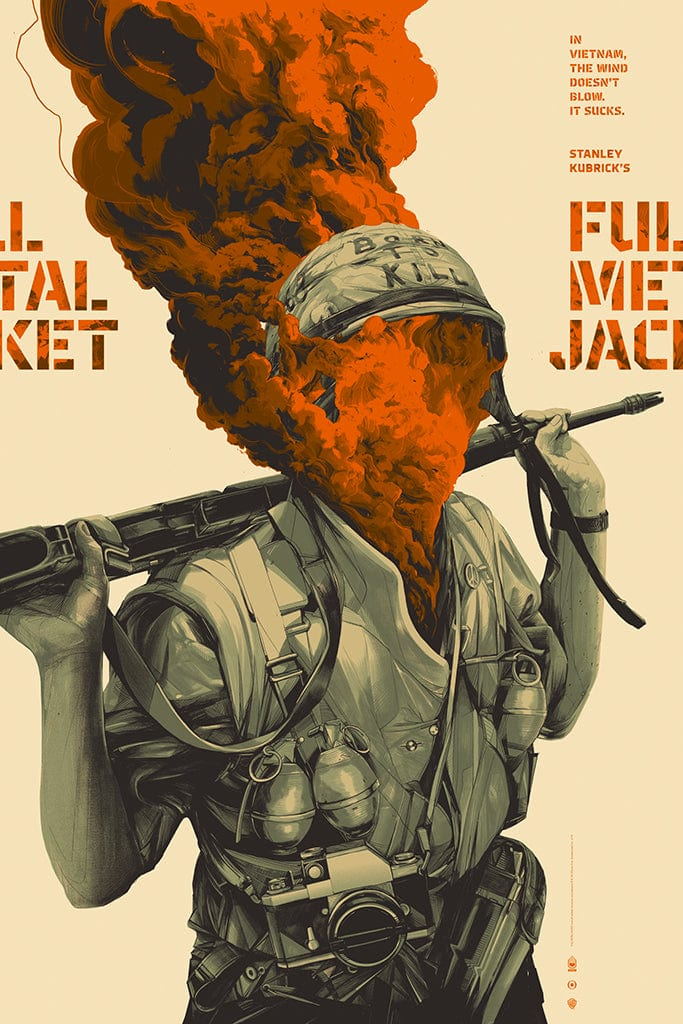 Full Metal Jacket Screenprinted Poster