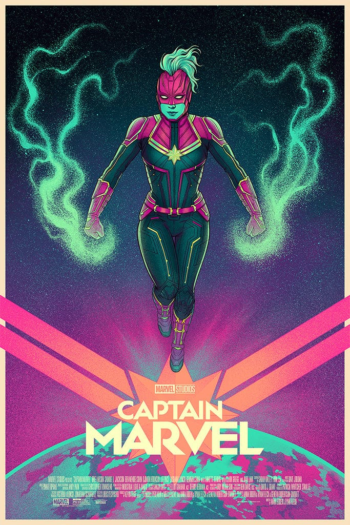 Captain Marvel (Variant) Screenprinted Poster