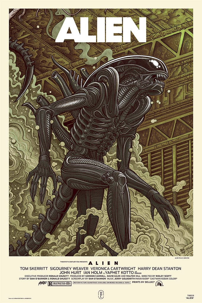Alien Screenprinted Poster