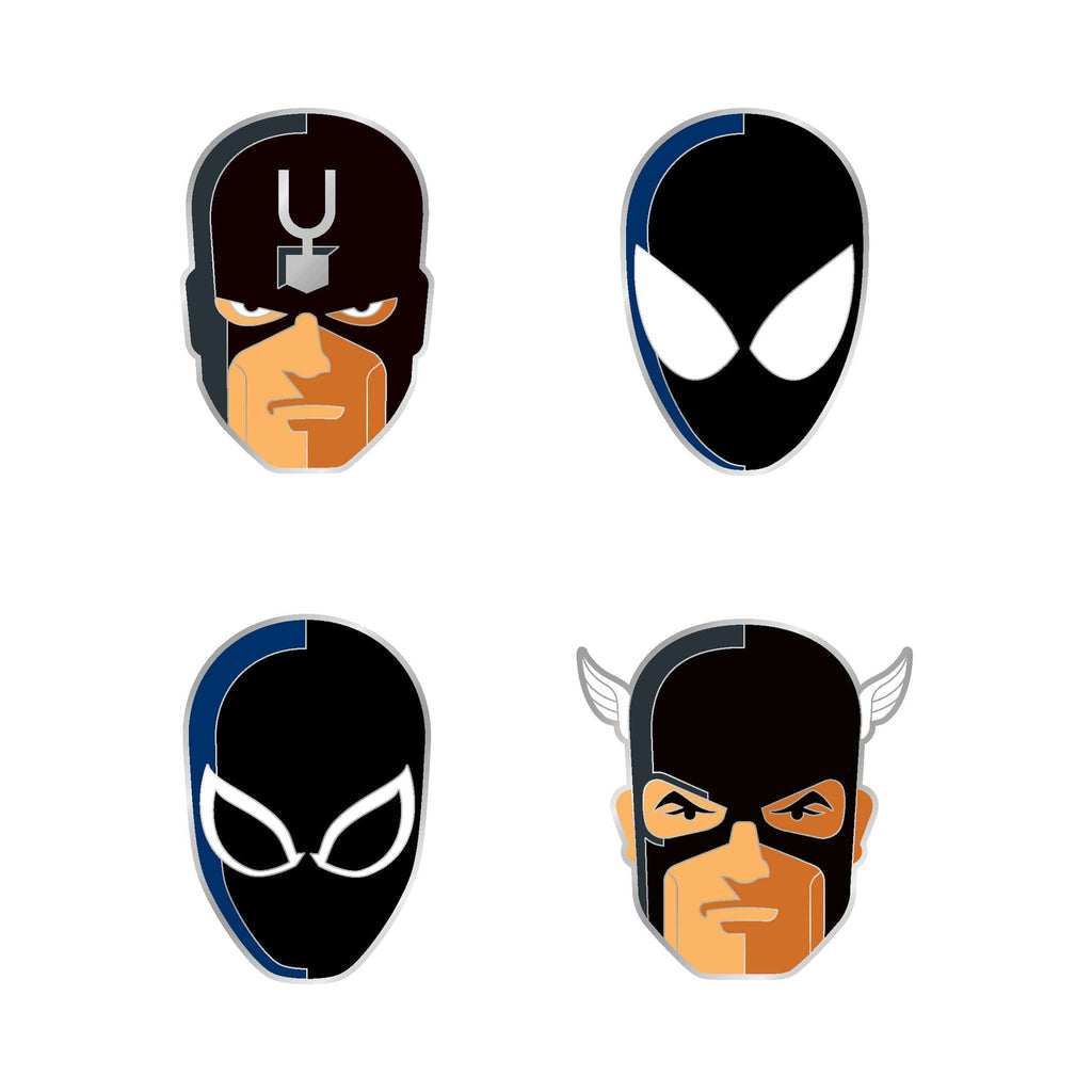 Marvel Black Series Enamel Pin Set