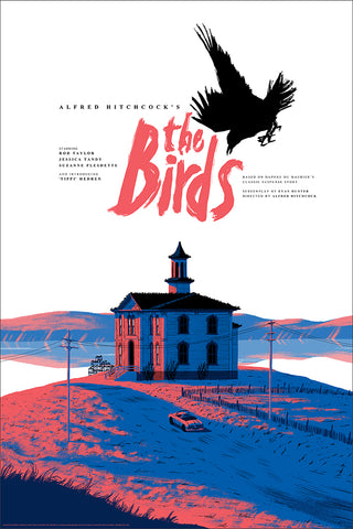 The Birds Screenprinted Poster
