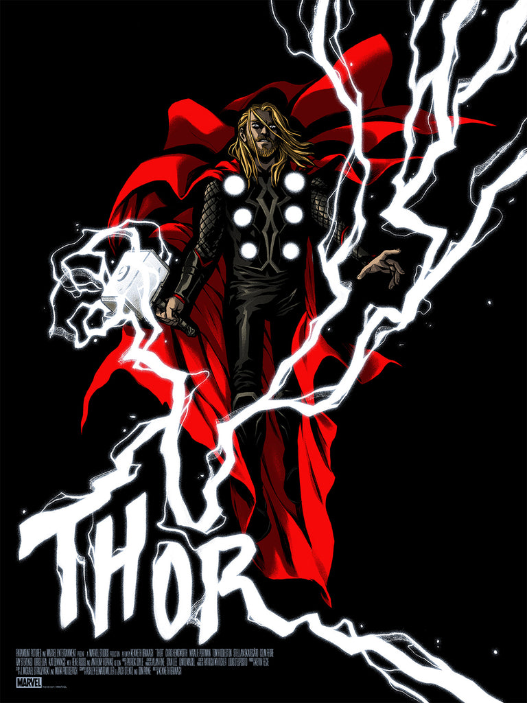 Thor Screenprinted Poster