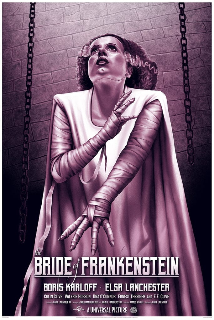 Bride of Frankenstein Screenprinted Poster
