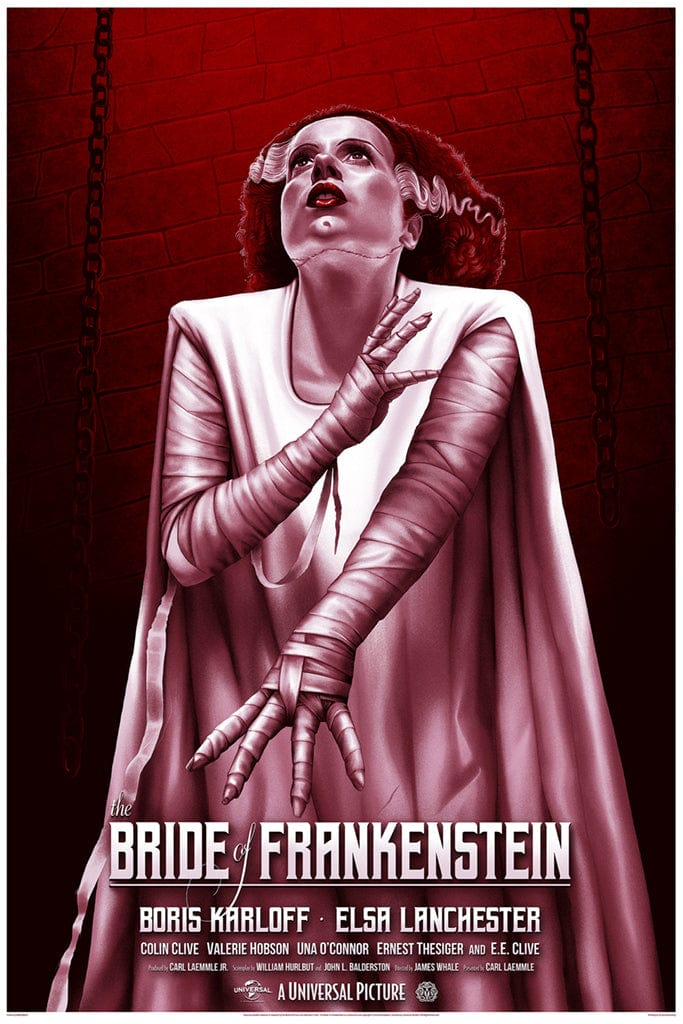 Bride of Frankenstein (Variant) Screenprinted Poster