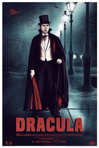 Dracula Screenprinted Poster