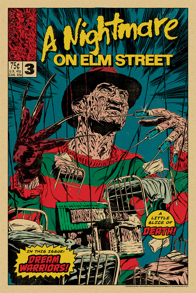 Nightmare on Elm Street 3: Dream Warriors Screenprinted Poster