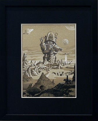 Forbidden Planet Original Art