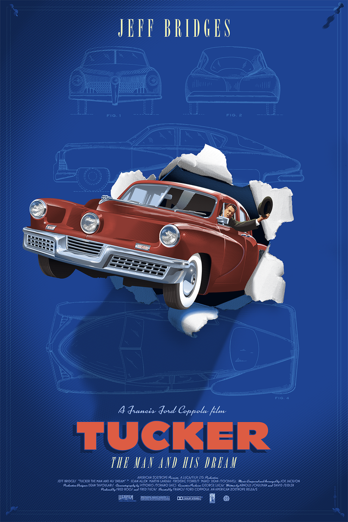 Tucker: The Man and His Dream Screenprinted Poster
