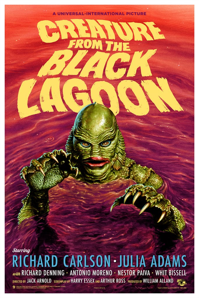 Creature From The Black Lagoon (Variant) Screenprinted Poster