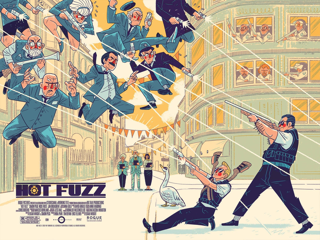 Hot Fuzz Screenprinted Poster