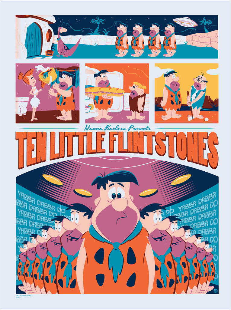 Ten Little Flintstones
