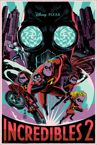 The Incredibles 2 Screenprinted Poster